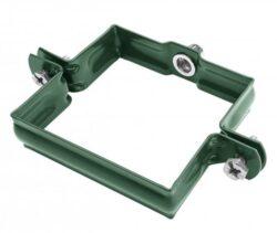 Objímka pozinkovaná hranatá mechově zelená 100 mm, bez hrotu, metrický závit M10