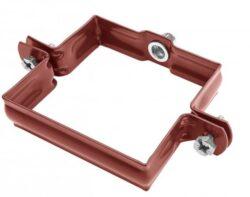 Objímka pozinkovaná hranatá ocelově červená 100 mm, bez hrotu,metrický závit M10