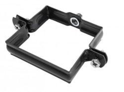 Objímka pozinkovaná hranatá černá 150 mm, bez hrotu, metrický závit M10