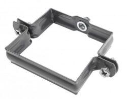 Objímka pozinkovaná hranatá antracit 150 mm, bez hrotu, metrický závit M10