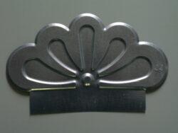 Štítek pozinkovaný metalický měděný okrasný