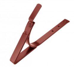 Hák pozinkovaný ocelově červený sámový, zpevněný, nýtovaný