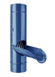 Zachytávač vody pozinkovaný modrý  80 mm se sítkem